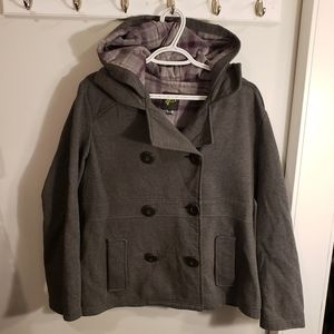 G21 Button-Up Grey Fall Jacket